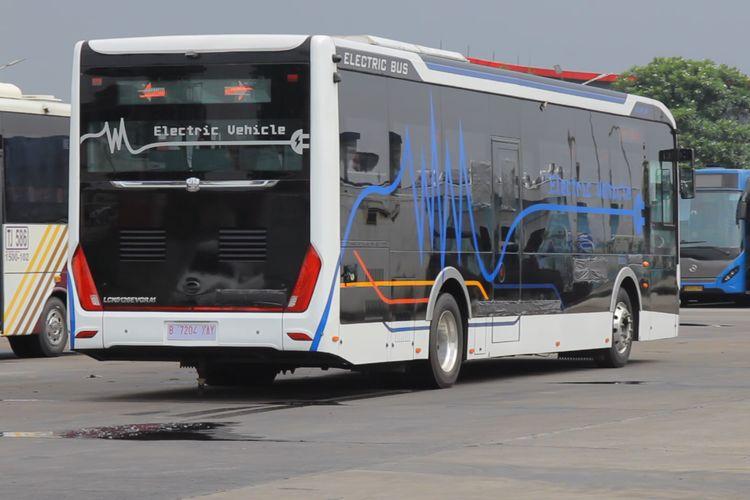 606f38994f096 - Bus Listrik Zhongtong yang Sedang Dites TransJakarta