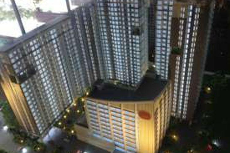 Maket Apartemen Domicilio yang terletak di Cikarang Central City.
