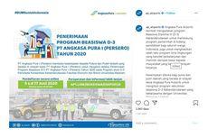 Beasiswa D3 PT Angkasa Pura I untuk Lulusan SMA/SMK, Dapat Uang Saku Penuh, Tertarik?
