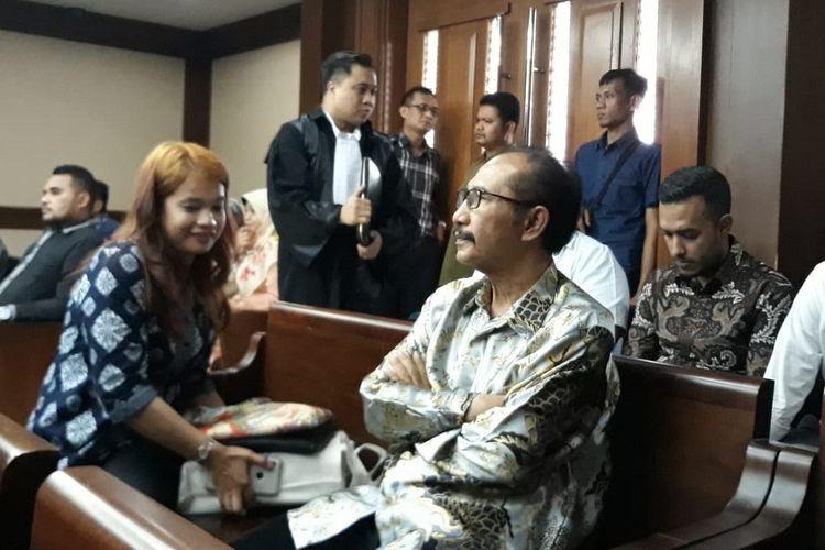 Hakim PN Jaksel Iswahyu Widodo menjadi terdakwa di Pengadilan Tipikor Jakarta, Senin (22/4/2019).