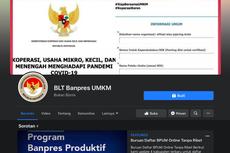 Halaman Facebook Ini Berisi Info BLT UMKM, Apakah Resmi dari Kemenkop?