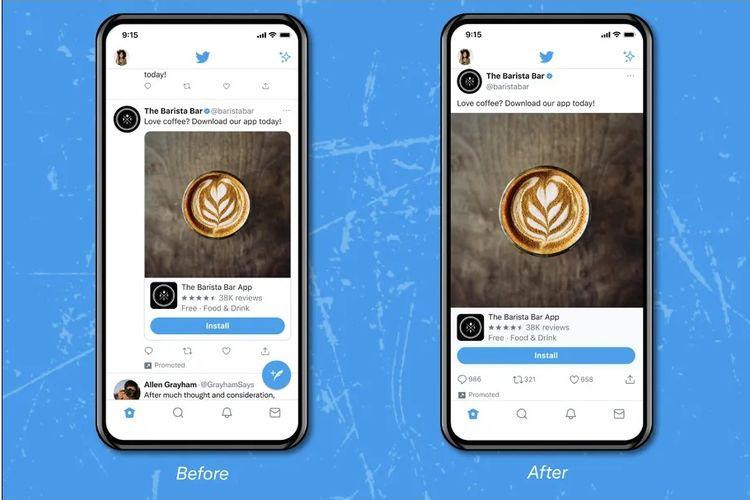 Twitter uji coba tampilan timeline mirip Instagram