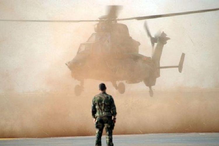 Helikopter tempur Tiger milik militer Perancis. Sebanyak 13 tentara tewas pada Senin (25/11/2019) ketika dua helikopter bertabrakan di udara tatkala mengejar milisi di Mali.