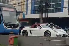 Pengemudi Porsche Masuk Jalur Transjakarta di Kebayoran Lama, Polisi Cek Kamera ETLE