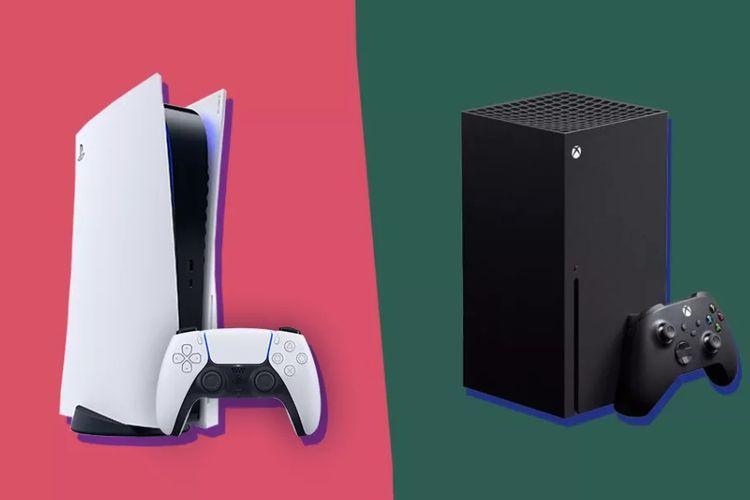 Ilustrasi PS5 (kiri) dan Xbox Series X (kanan).