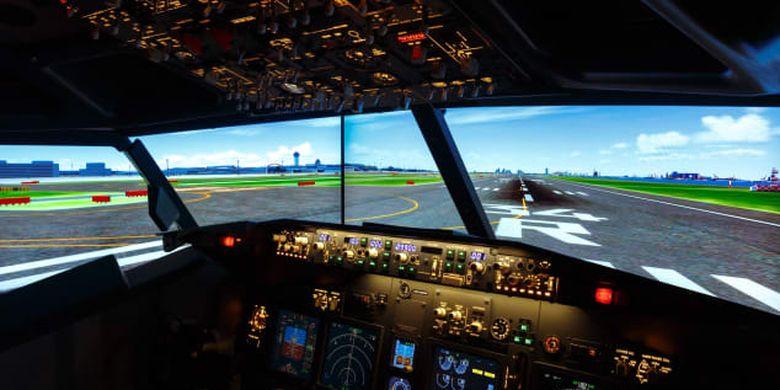 Simulator pesawat.