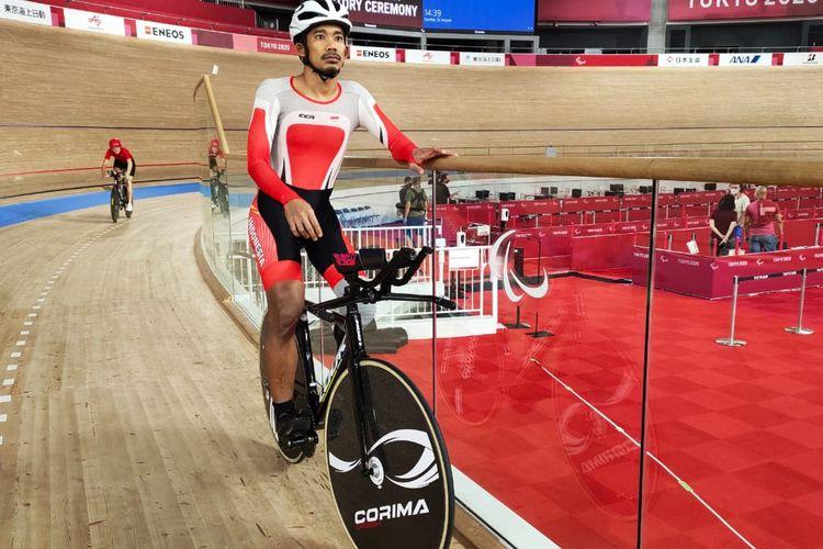 Atlet parabalap sepeda Indonesia, Muhammad Fadli Imammudin, saat berlatih menjelang tampil di Paralimpiade Tokyo 2020.
