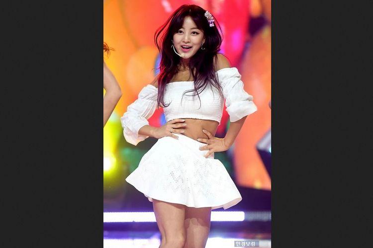 Salah satu member girlband TWICE, Jihyo