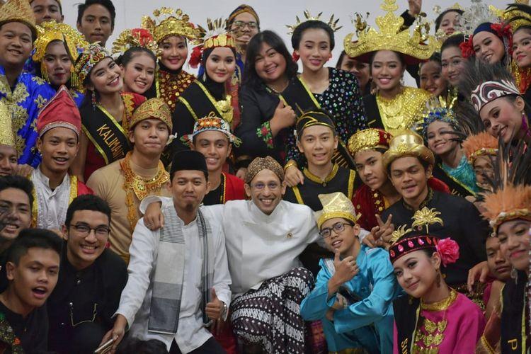 Peringatan Hari Sumpah Pemuda ke-91 di kantor Kemendikbud, Jakarta, Senin (28/10/2019).