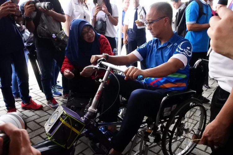Menteri Sosial Agus Gumiwang Kartasasmita, saat membuka acara peringatan Hari Disabilitas Internasional 2018 di Summarecon Mall Bekasi, Minggu (2/12/2018)
