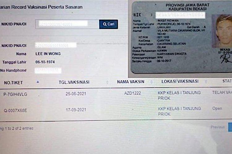 Warga Kabupaten Bekasi, Jawa Barat gagal mengikuti vaksinasi karena nomor induk kependudukan atau NIK KTP Elektronik dipakai orang lain.