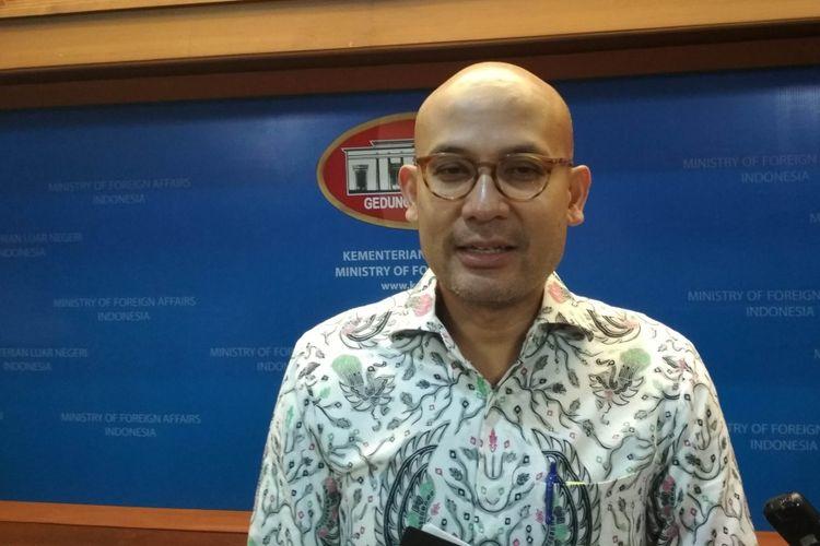 Juru bicara Kementerian Luar Negeri Arrmanatha Nasir Ketika Ditemui Di Kemenlu, Jakarta, Kamis (18/5/2017).