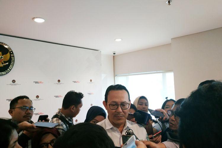 Kepala BPJS Kesehatan, Fahmi Idris, di Kantor Kemenko-PMK, Jakarta Pusat, Senin (6/1/2020).