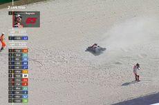 Penyebab Bagnaia Crash di MotoGP Emilia Romagna, Korban Pelindung Visor Helm Quartararo?