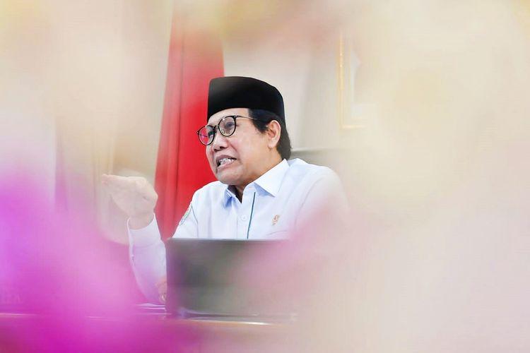 Menteri Desa, Pembangunan Daerah Tertinggal dan Transmigrasi (Menteri Desa PDTT) Abdul Halim Iskandar saat menjadi Keyone Speech dalam acara orasi ilmiah UIN Walisongo Semarang secara virtual dari Jakarta, Senin (2/8/2021).