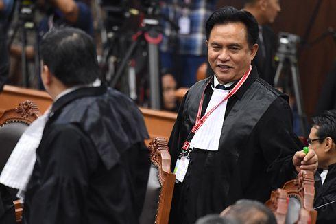 Jelang Penutupan Sidang MK, Yusril Serahkan Surat Cuti Jokowi kepada Hakim