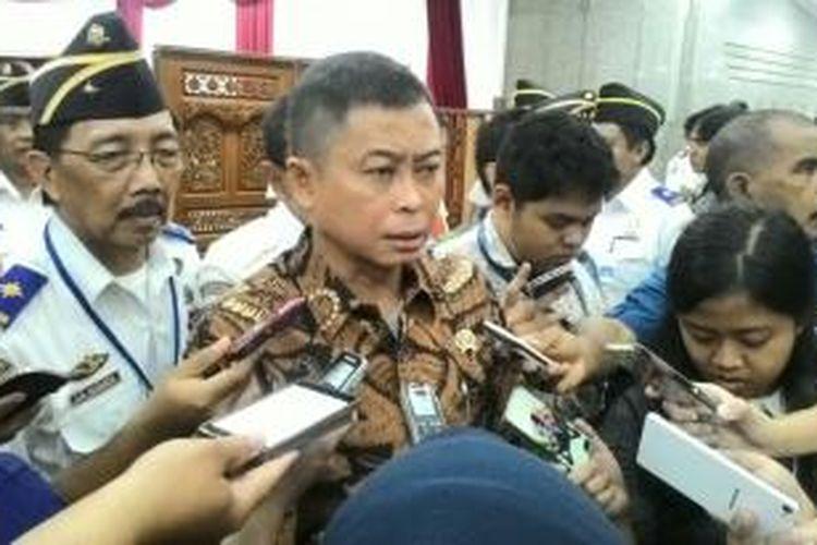 Menteri Perhubungan Ignasius Jonan di Kantor Kemenhub, Jakarta, Senin (18/1/2016)