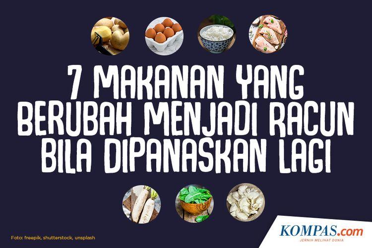 7 Makanan yang Berubah Menjadi Racun bila Dipanaskan Lagi