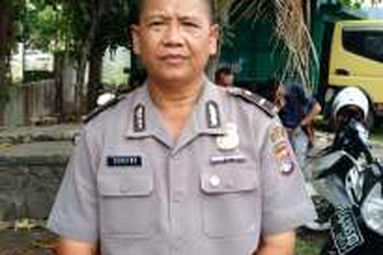 Kepala Subbagian Humas Polres Bima Kota, Ipda Suratno saat dikonfirmasi terkait kasus dugaan pemerkosaan yang berujung aksi pengerusakan rumah terduga pelaku, Jum'at (11/11/2016)