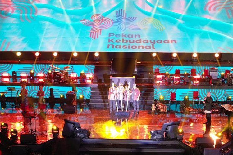Peluncuran Indeks Pembangunan Kebudayaan (IPK) dalam rangkaian Pekan Kebudayaan Nasional (PKN) di Istora Gelora Bung Karno, Jakarta, Kamis (10/10/2019).