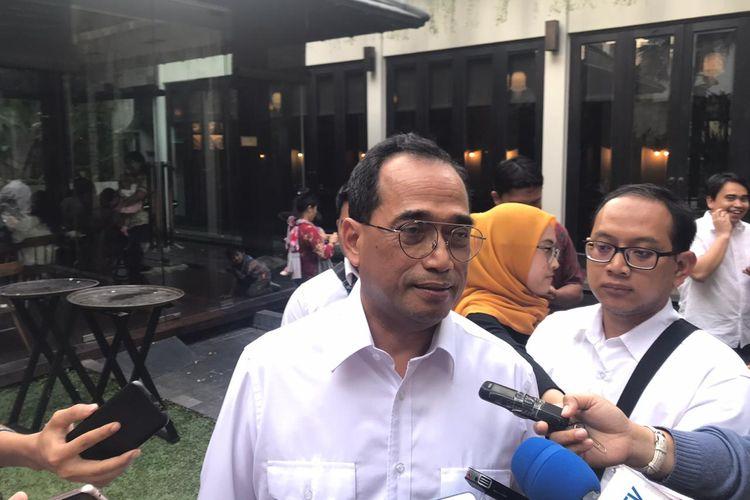 Menteri Perhubungan Budi Karya Sumadi di Jakarta, Sabtu (19/10/2019).