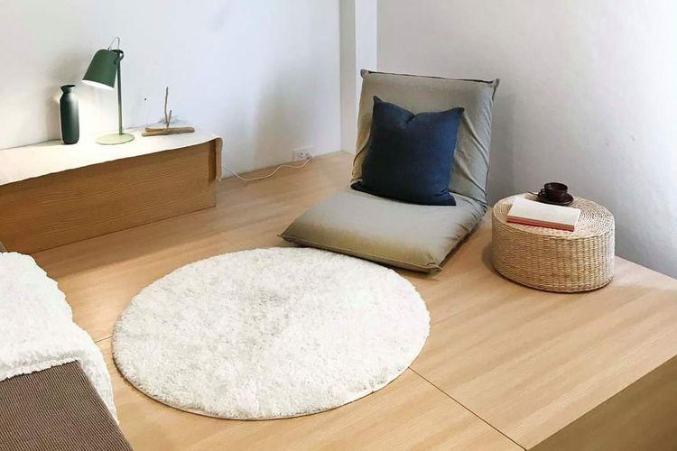 Ruang santai di rumah minimalis.
