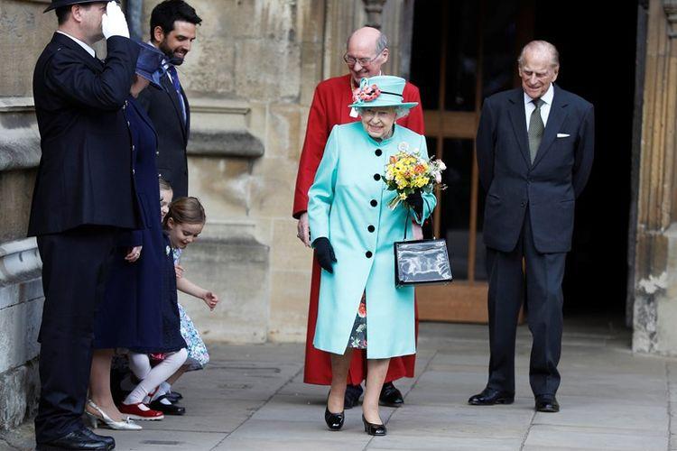 Ratu Elizabeth II dan suaminya, Pangeran Phillips.