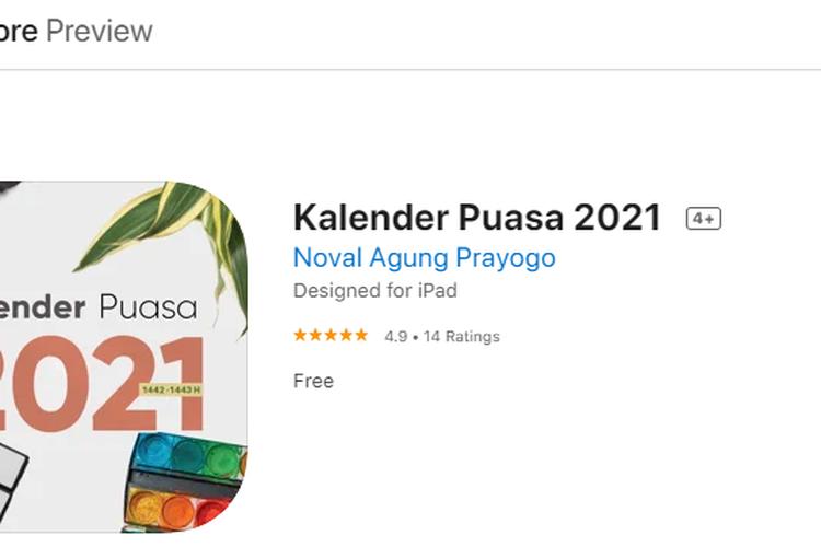 Aplikasi Kalender Puasa 2021, untuk mengetahui jadwal puasa 2021