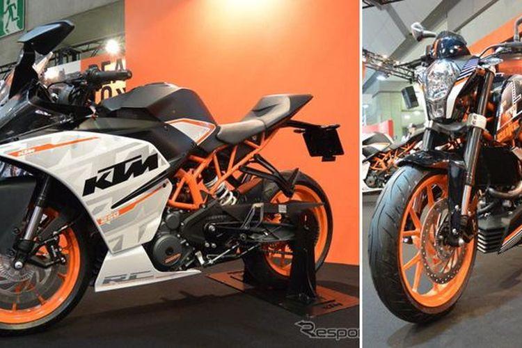 KTM RC250 dan Duke 250 dipamerkan di Tokyo Motorcycle Show 2015.
