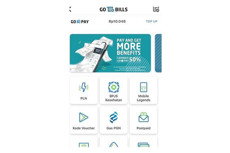 Fitur pembayaran Gas PGN di GO-PAY
