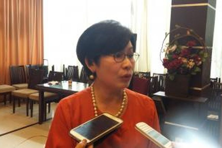 Wakil Ketua KADIN Suryani SF Motik, saat ditemui di Menteng, Jakarta Pusat, Sabtu (31/10/2015).