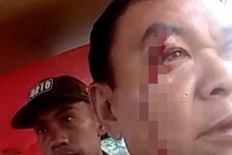 Satu personel Polisi Resor Tapanuli Selatan ikut menjadi korban, akibat bentrok antar aparat di Desa Silangkitang, Pahae Jae, Tapanuli Utara, Kamis (27/2/2020).