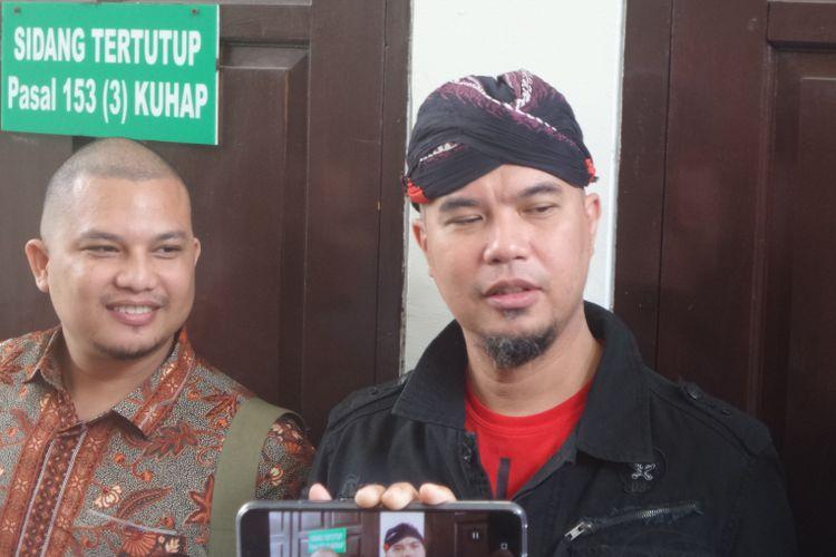Ahmad Dhani menghadiri sidang kasus ujaran kebencian di PN Jakarta Selatan, Senin (20/8/2018).