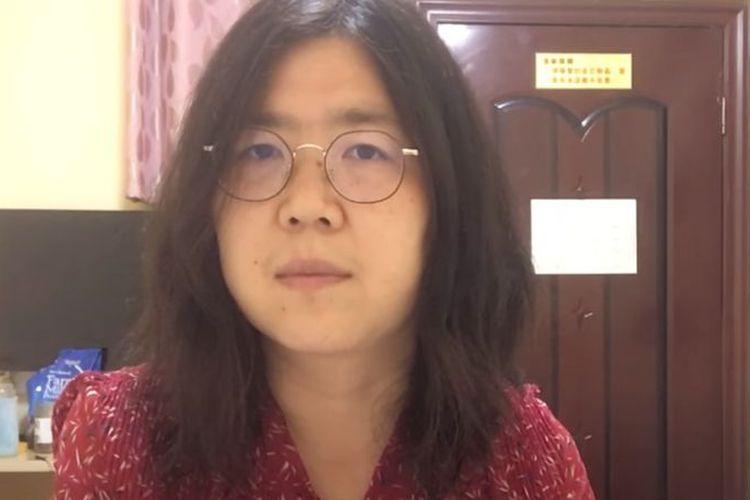 Zhang Zhan, seorang jurnalis China yang terancam dipenjara hingga lima tahun setelah meliput mengenai Covid-19 di Wuhan.