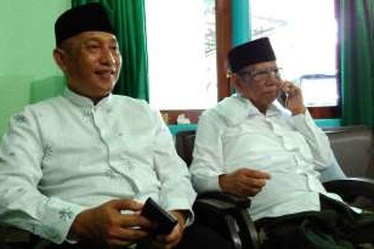 KH Hasyim Muzadi Bersama Ketua Dewan Pembina APTRI, Arum Sabil, Minggu (13/11/2016).