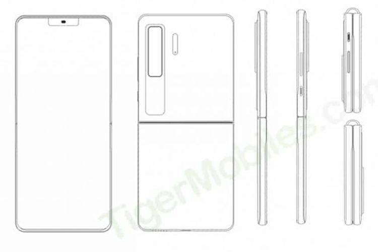 Huawei mengajukan paten ponsel layar lipat dengan bentuk clamshell.