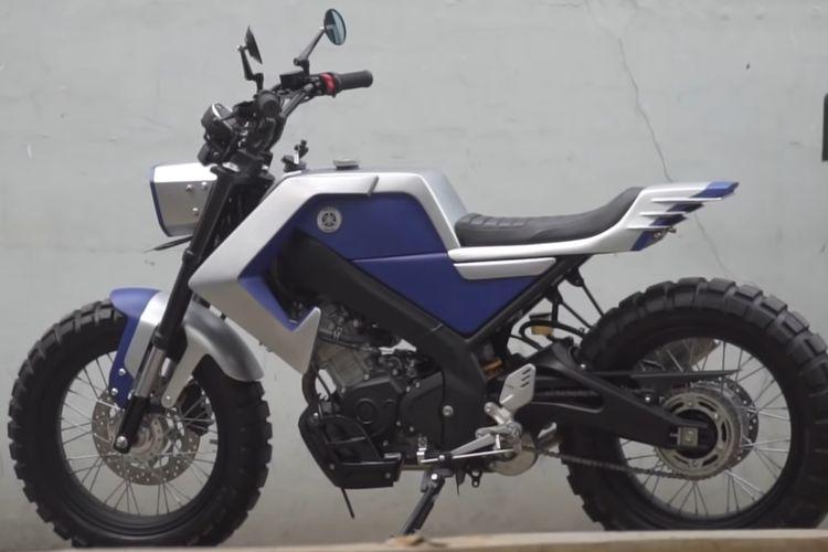 Yamaha XSR155 Flat Tracker garapan Katros Garage