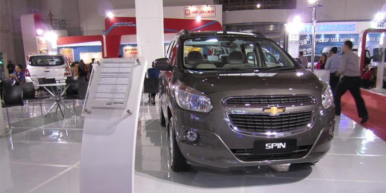 Spin Active yang ikut dipajang pada booth Chevrolet di Jakarta Fair