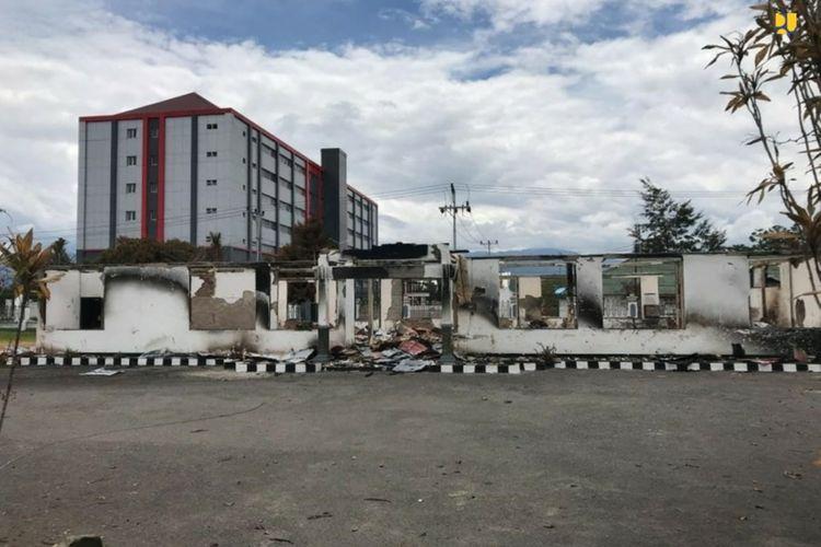 Sepuluh kantor pemerintahan rusak pascra kerusuhan Wamena, Papua.