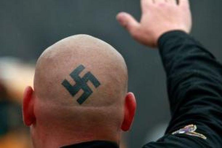 Ilustrasi anggota kelompok Neo-Nazi.