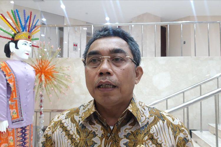 Ketua Fraksi PDIP DPRD DKI Jakarta Gembong Warsono di Gedung DPRD DKI Jakarta, Senin (15/7/2019)