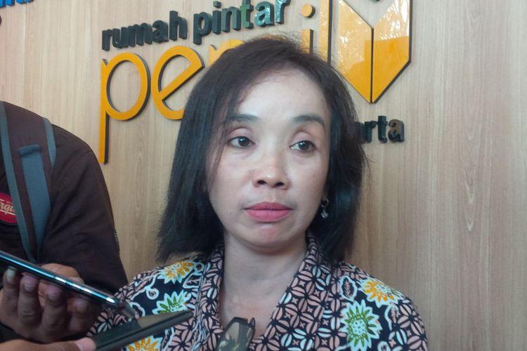 Ketua KPU Surakarta Nurul Sutarti di Solo, Jawa Tengah, Kamis (3/1/2019).