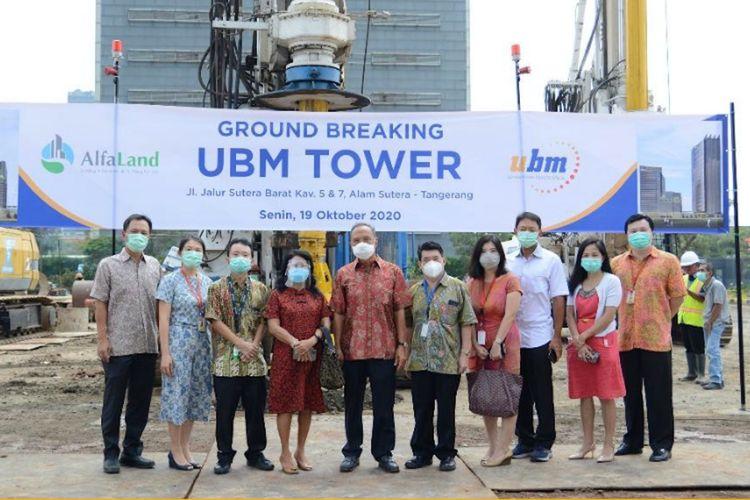 Ground breaking dimulainya pembangunan UBM Tower di Kampus Serpong Alam Sutera yang digelar pada hari Senin (19/10/2020).