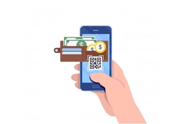 Ilustrasi dompet digital.