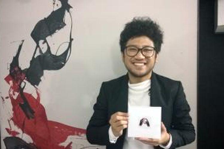 Kunto Aji diabadikan dalam acara peluncuran album perdananya, yang berjudul Generation Y, di Bara Futsal, Palatehan, Jakarta Selatan, Selasa (17/11/2015).