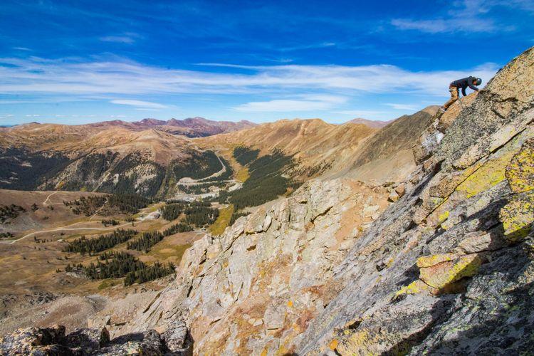 Via ferrata tertinggi di Amerika Utara yang letaknya di Colorado.