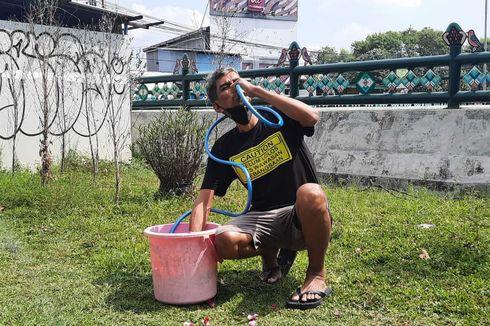 Prihatin Underpass Kentungan Sleman Tergenang, Aktivis JCW Gelar Mandi Kembang