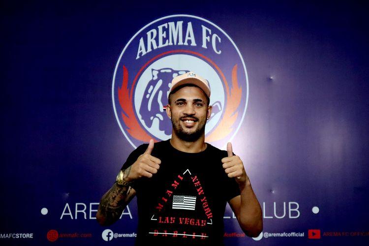 Pemain baru Arema FC yang berasal dari Brasil, Caio Ruan Lino Freitas.
