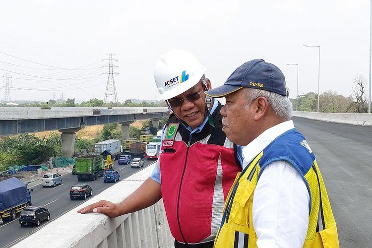 Menteri PUPR Basuki Hadimuljono saat meninjau Tol Jakarta-Cikampek II (Elevated), Kamis (19/9/2019).