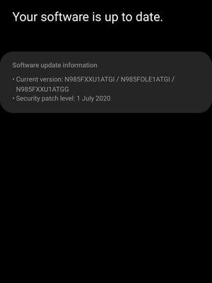Galaxy Note 20 Ultra di Indonesia belum mendapat update yang sama.